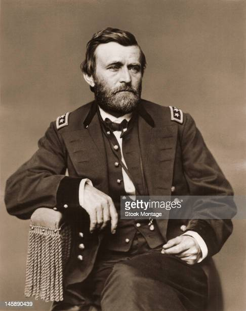 Portrait of American military commander Ulysses S Grant mid 19th century