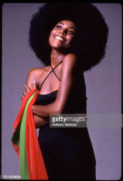Portrait of American model actress and singer Radiah Frye New York 1970s