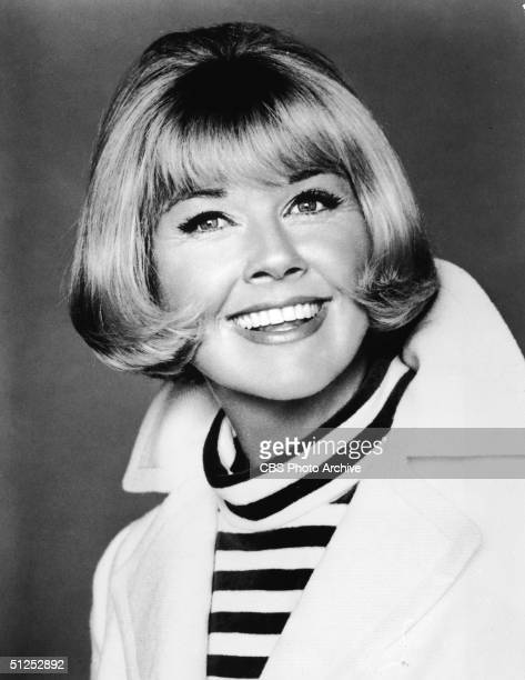 Portrait of American movie and television star singer and a friend to all animals Doris Day taken as promotion for her television series 'The Doris...