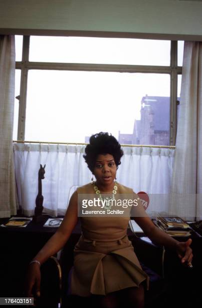 Portrait of American music executive Motown Records CEO Esther Gordy Edwards Detroit Michigan 1960s