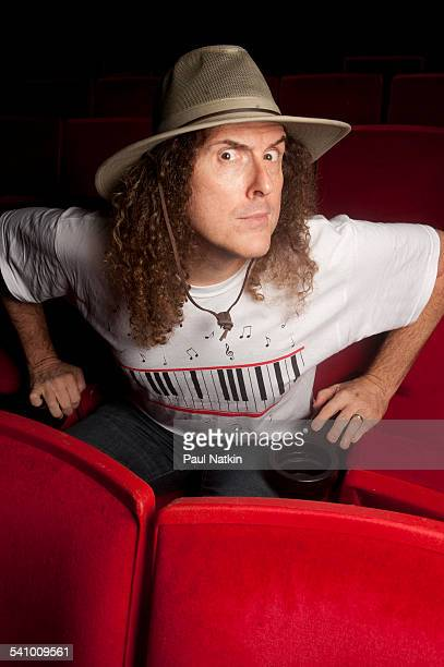 Portrait of American musician and comedian Weird Al Yankovic at the Star Plaza Theater Merrillville Indiana July 9 2010