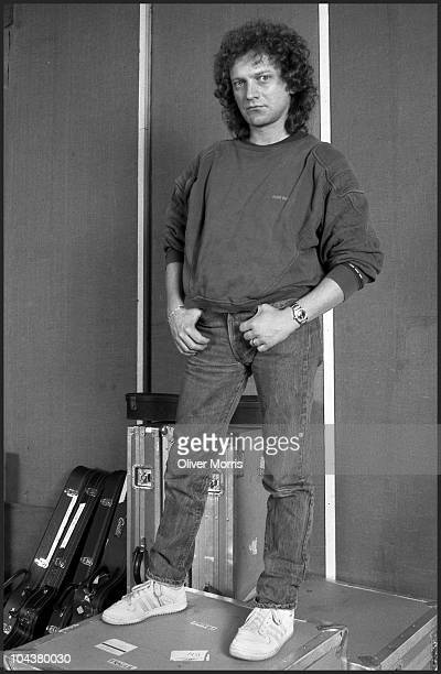 Portrait of American musician and singer Lou Gramm from the the band Foreigner New York New York mid 1980s