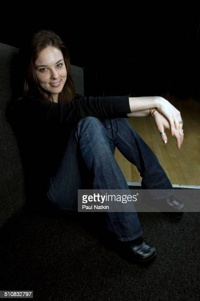 Portrait of American musician Anna Nalick backstage at the Park West Auditorium Chicago Illinois March 21 2006