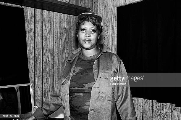 Portrait of American musician Aretha Franklin as she poses backstage during ChicagoFest Chicago Illinois August 3 1981