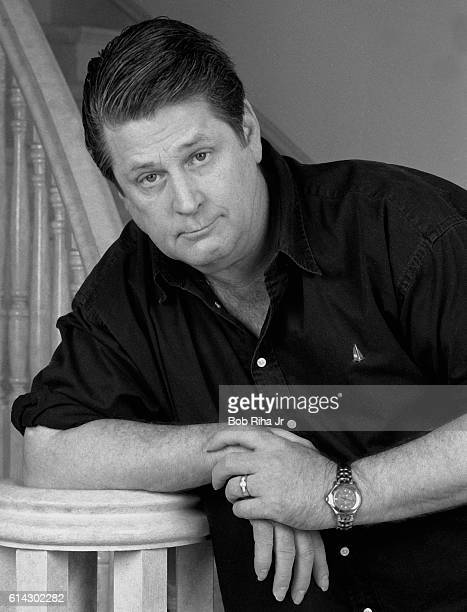 Portrait of American musician Brian Wilson as he poses at home, Los Angeles, California, August 11, 1995.