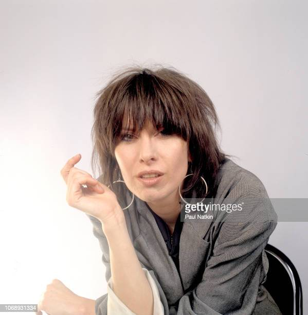 Portrait of American musician Chrissie Hynde of the group Pretenders as she poses at the UIC Pavillion Chicago Illinois May 24 1982