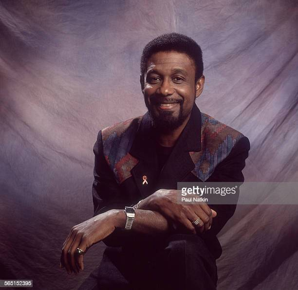Portrait of American musician Cleve Francis as be pose backstage at the Grand Ole Opry Nashville Tennessee x December 1 1993