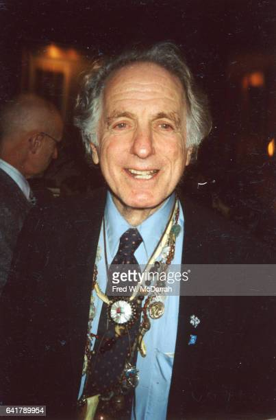 Portrait of American musician composer and conductor David Amram as he attends a party for the Nation magazine New York New York February 25 2003