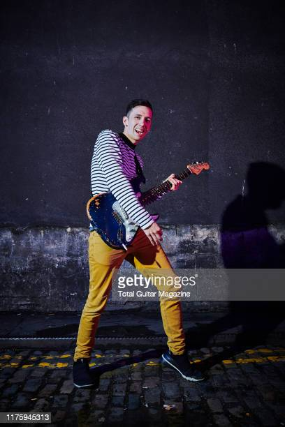 Portrait of American musician Cory Wong guitarist with funk rock group Vulfpeck photographed before a live solo performance at The Fleece in Bristol...