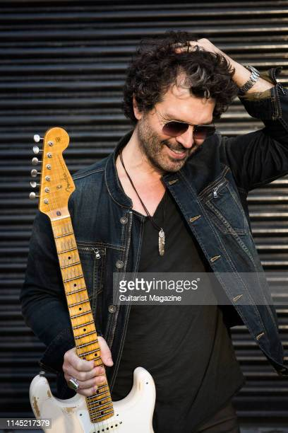 Portrait of American musician Doyle Bramhall II photographed in London on September 3 2018