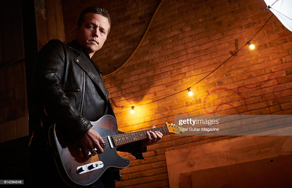 Portrait of American musician Jason Isbell, photographed before a live performance at the O2 Academy in Bristol, on January 20, 2016.