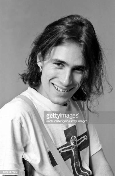Portrait of American musician Jeff Buckley at Vartoogian Studios, New York, New York, February 6, 1992.