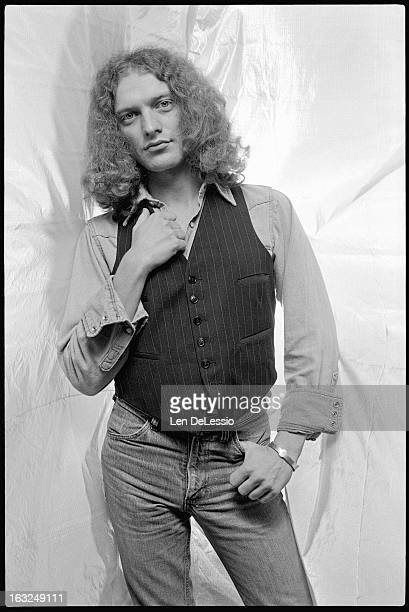 Portrait of American musician Lou Gramm of the band Foreigner as he poses in the photographer's studio New York New York 1976