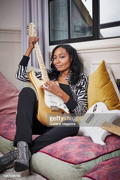 Portrait of American musician Malina Moye photographed in London on February 8 2018