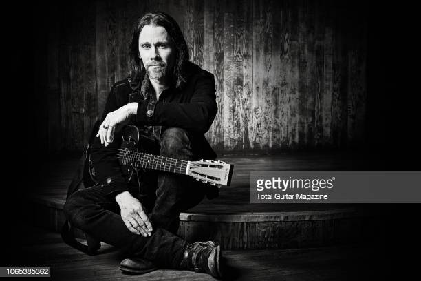 Portrait of American musician Myles Kennedy photographed before a live performance at Thekla in Bristol England on March 24 2018