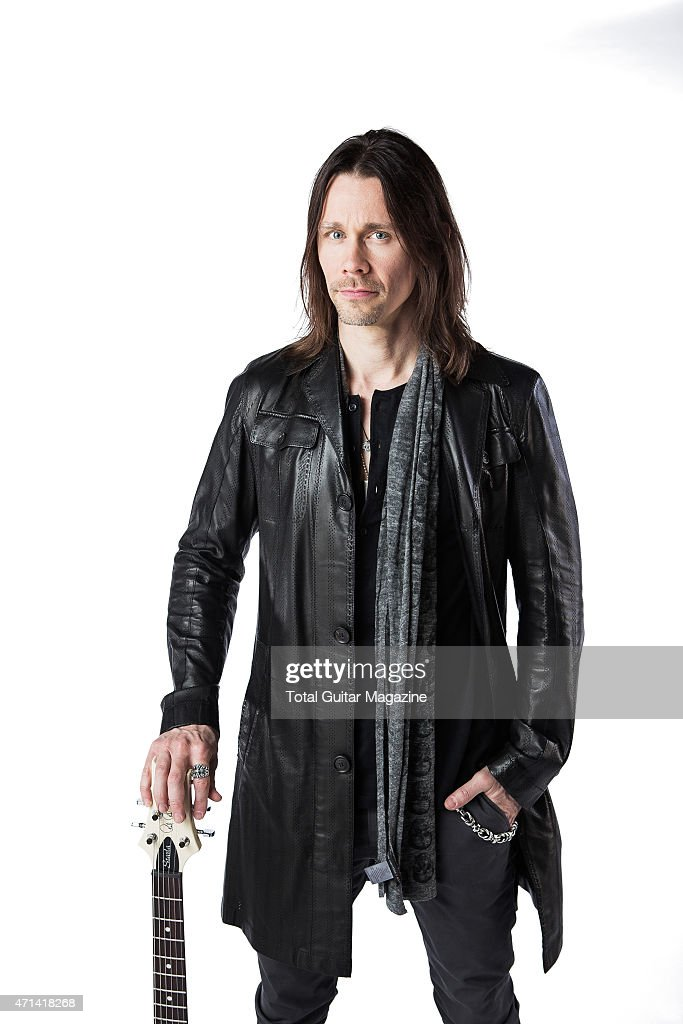 Portrait of American musician Myles Kennedy photographed with his PRS electric guitar in London on June 2, 2014. Kennedy is best known as a founding member of rock group Alter Bridge.