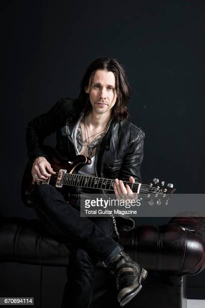 Portrait of American musician Myles Kennedy vocalist and guitarist with hard rock group Alter Bridge photographed in London on September 10 2016