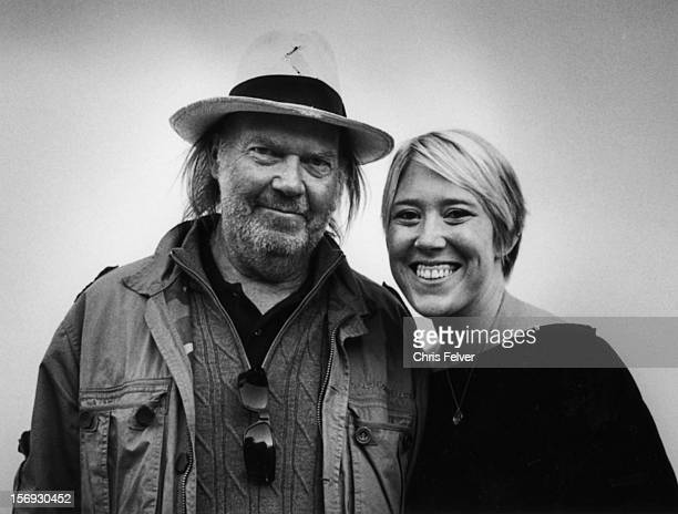 Portrait of American musician Neil Young and his daughter Amber Young San Francisco California 2010