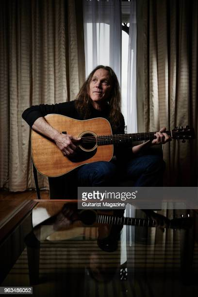 Portrait of American musician Timothy B Schmit bassist and vocalist with rock group The Eagles photographed at Claridges in London on February 6 2017