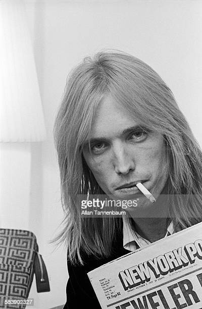 Portrait of American musician Tom Petty in his hotel room New York New York October 7 1977