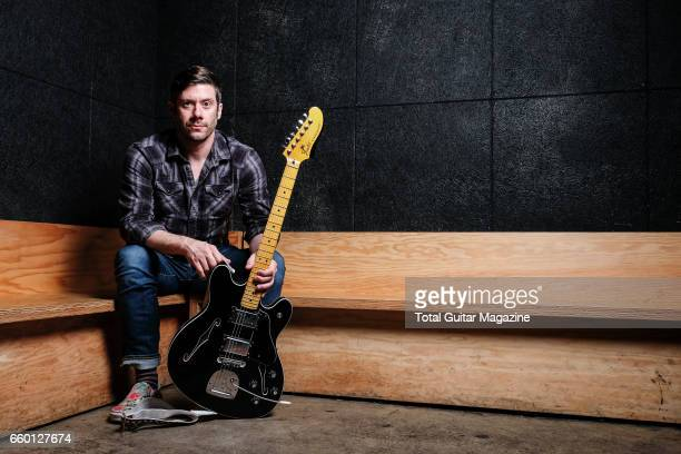 Portrait of American musician Wes Borland guitarist with indie rock group Queen Kwong photographed at Ace Hotel in London on June 2 2016