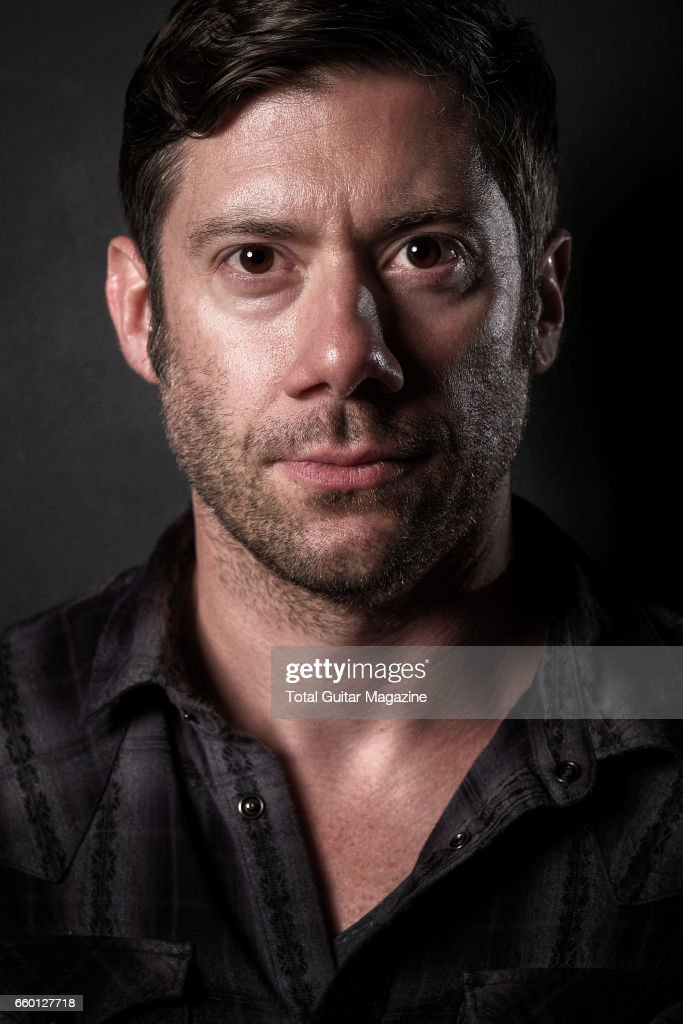 Portrait of American musician Wes Borland, guitarist with indie rock group Queen Kwong, photographed at Ace Hotel in London, on June 2, 2016.