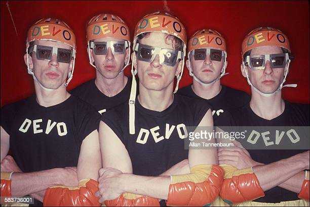 Portrait of American New Wave group Devo New York New York October 1978