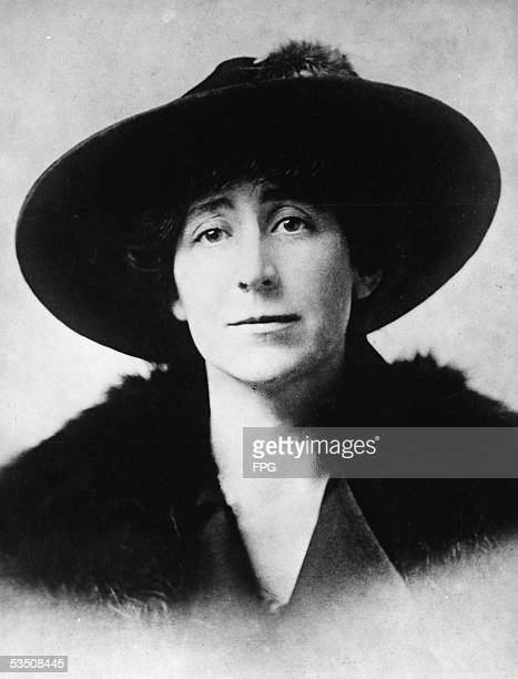Portrait of American pacifist leader Jeannette Rankin , who in 1916 became the first female member of Congress when she was elected to the House of...