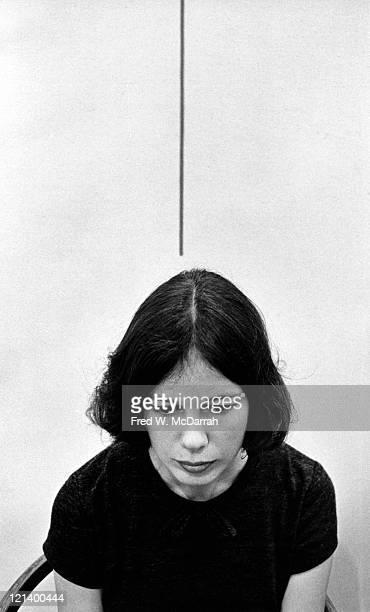Portrait of American painter and landscape artist Patricia Johanson at the Tibor de Nagy Gallery September 9 1966