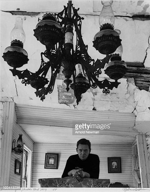 Portrait of American painter Andrew Wyeth as he poses under a chandelier Chadds Ford Pennsylania April 16 1948
