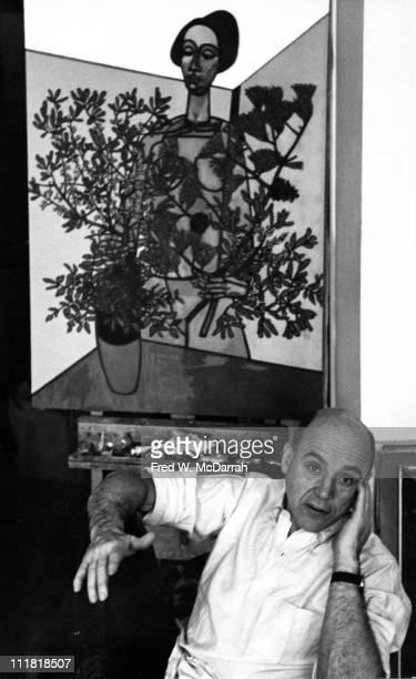 Portrait of American painter Robert Gwathmey New York New York Februay 17 1962