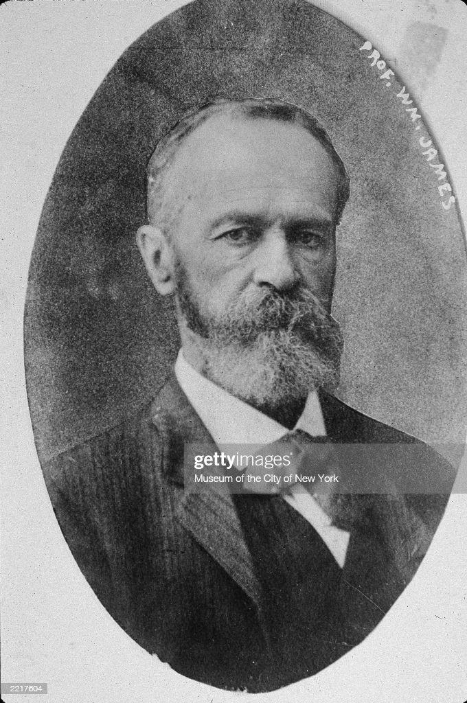 Portrait of American philosopher and psychologist William James (1842-1910).