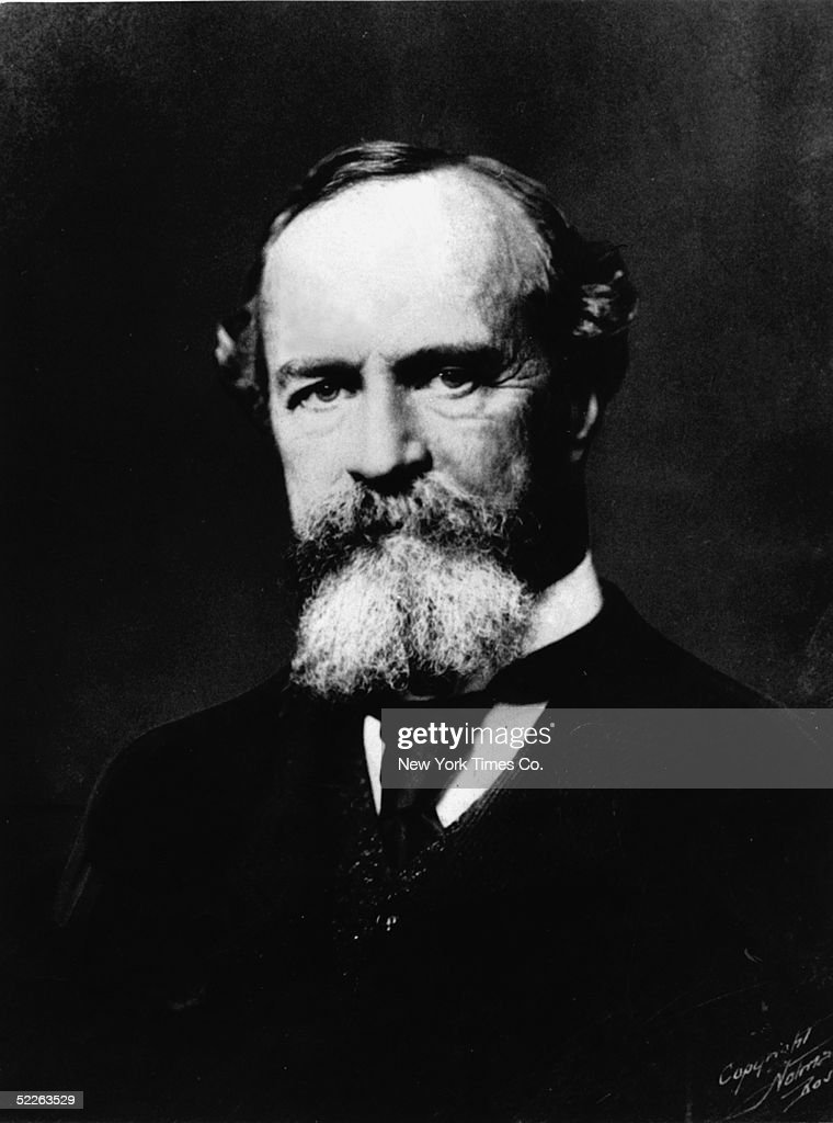 Portrait of American philosopher, psychologist, and educator William James (1842 - 1910), 1903. James applied his philosophy, which he called Pragmatism, to subjects like epistemology, religion, and history. The brother of the novelist Henry James he taught at Harvard University for many years.