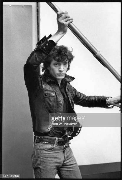 Portrait of American photographer as he poses in his loft studio New York New York December 22 1979