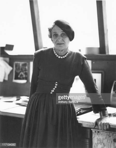 Portrait of American photographer Dorothea Lange mid twentieth century