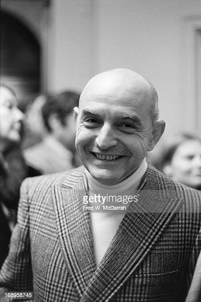Portrait of American photographer Duane Michals attends an event at the International Center of Photography New York New York November 14 1974