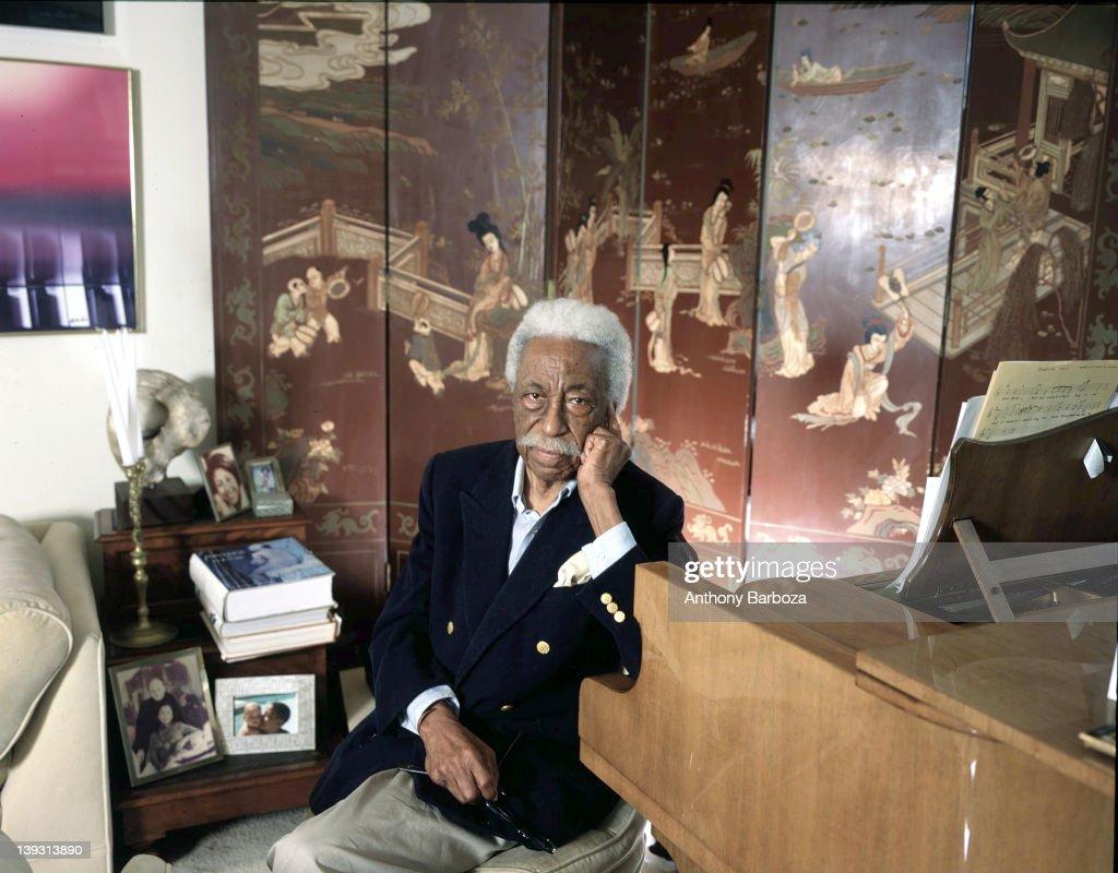 Portrait of American photographer Gordon Parks (1912 - 2006), 2005.