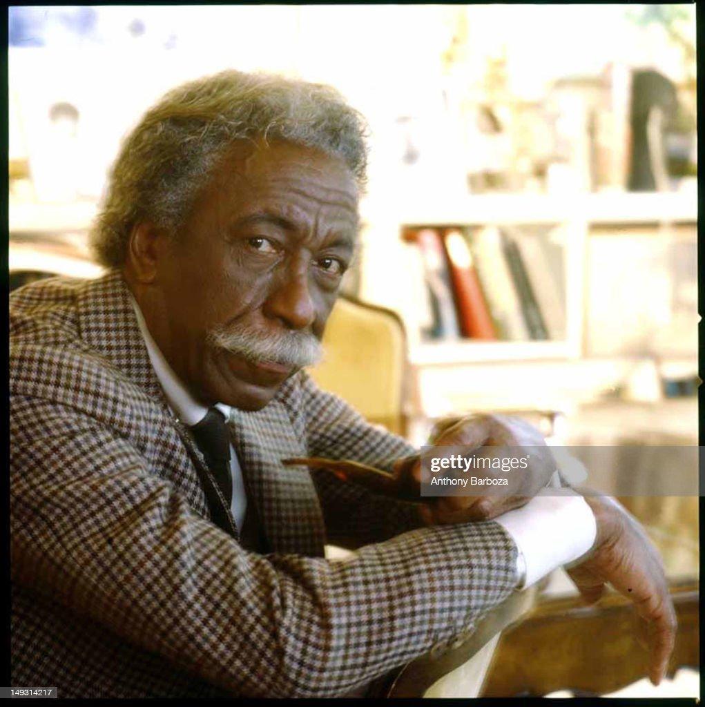 Portrait of American photographer Gordon Parks (1912 - 2006), New York, New York, 1980s.