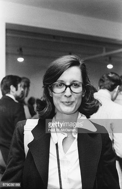 Portrait of American photographer Jill Krementz as she poses at a book release party for 'The Philosophy of Andy Warhol ' New York New York September...