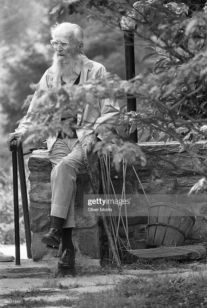 Edward Steichen In His Garden : Nieuwsfoto's
