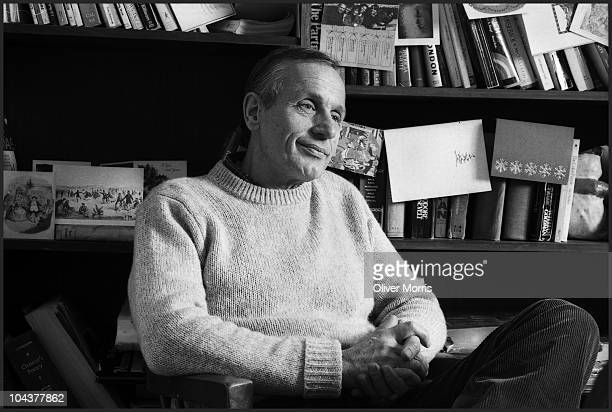 Portrait of American playwright and author AR Gurney as he poses at home New York New York mid 1980s