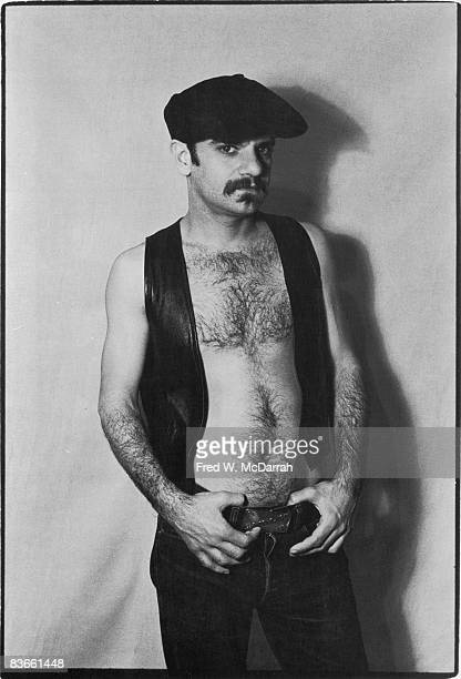 Portrait of American playwright and theatre actor director Charles Ludlum March 13 1976