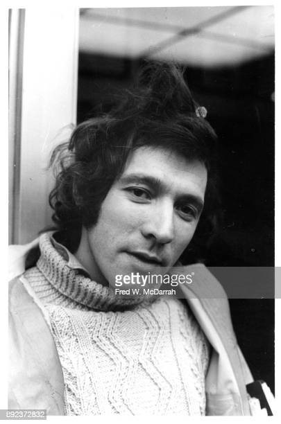 Portrait of American playwright Israel Horovitz as he poses outside the Theatre de Lys New York New York February 4 1971 He was there for the opening...