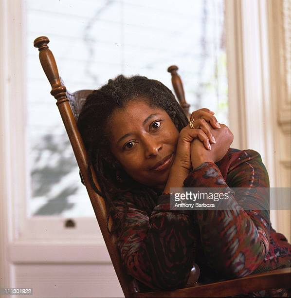 Portrait of the poet and Pulitzer prize winning author Alice Walker at her home in San Francisco 1989