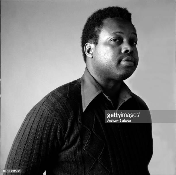 Portrait of American poet and playwright Ed Bullins as he poses with his hands behind his back New York New York 1975 He had previously severed as...