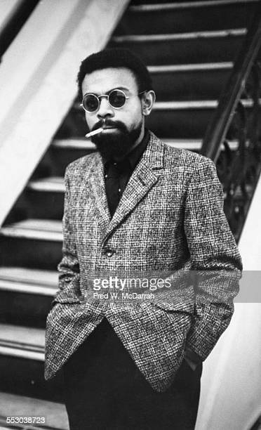 Portrait of American poet and playwright LeRoi Jones at Cooper Square New York New York December 13 1964 The same day his play 'The Toilet' debuted...