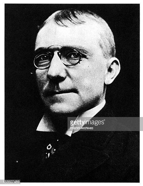 Portrait of American poet James Whitcomb Riley late nineteenth century Born in Indiana worked as an itinerant sign painter in a patent medicine show...