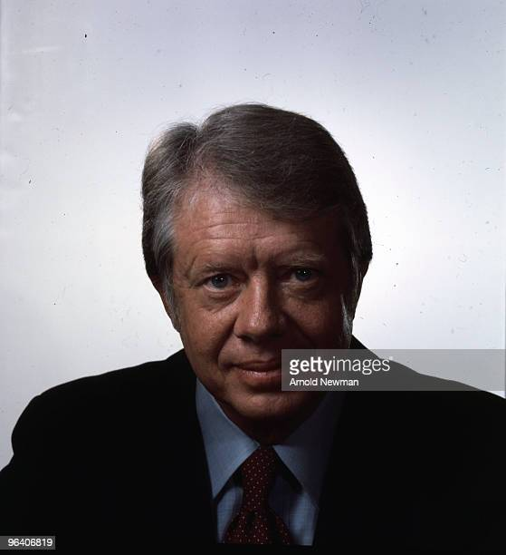 Portrait of American politician and Democratic nominee for President of the United States Jimmy Carter Washington DC October 29 1976 Carter was the...