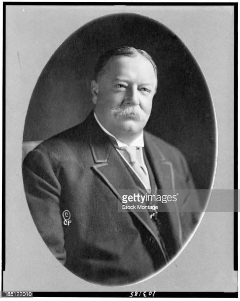 Portrait of American politician and jurist, former US President William Howard Taft , 1915.