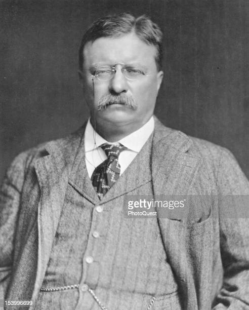 Portrait of American politician and US President Theodore Roosevelt , early 20th century.